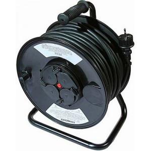 Prodlužovací přívod 50m - naviják, 3x1,5mm2, IP44, guma