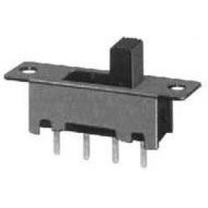 Přepínač posuvný SS-13F08, ON-ON-ON 1pol.50V/0,5A