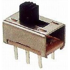 Přepínač posuvný KBB45-2P2W, ON-ON 2pol. 250V/0,5A