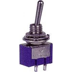 Vypínač páčkový MTS-101, ON-OFF 1pol.250V/3A otvor 6mm