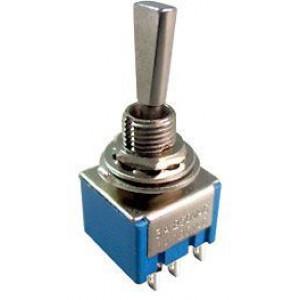 Přepínač páčkový MTS-202-F1, ON-ON, 2pol. 250V/3A