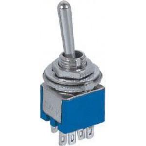 Přepínač páčkový SMTS-202, ON-ON, 2pol. 250V/1A