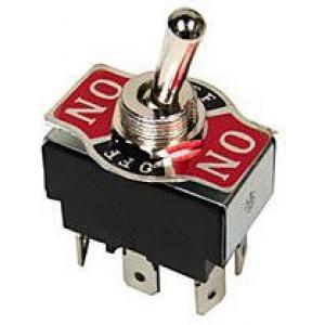 Přepínač páčkový KN3(C)-203AP, ON-OFF-ON 2pol.250V/10A