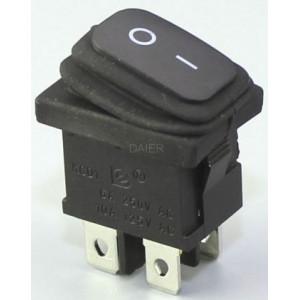 Vypínač kolébkový KCD1-4-201W, OFF-ON 250V/6A vodotěsný