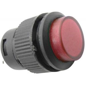 Vypínač stiskací R16-503AD 1pól. OFF-ON 250V/3A červené prosvětlené