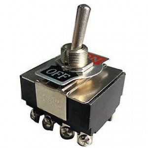 Vypínač páčkový KN3(B)-401A, ON-OFF 4pol.250V/10A