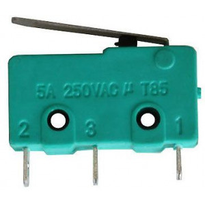 Mikrospínač MSW-12, ON-(ON) 1pol.250V/5A-páčka 17mm