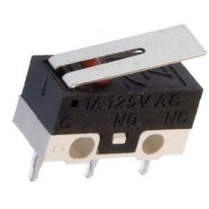 Mikrospínač MSW-22, ON-ON 1pol.125V/1A s páčkou