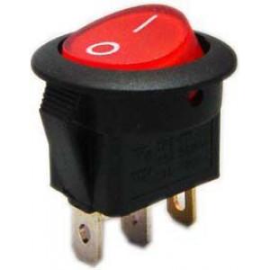 Vypínač kolébkový MIRS101-8, ON-OFF 1p.250V/6A červený, prosvětlený