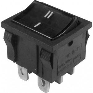 Přepínač kolébkový MRS-202-4, ON-ON 2pol.250V/6A černý