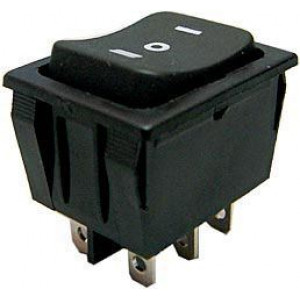 Tlačítko kolébkové RS-223-4C (ON)-OFF-(ON) 2p.250V/15A I-O-II