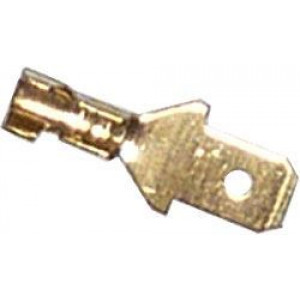 Faston-konektor 4,8mm neizolovaný pro kabel do 1mm2