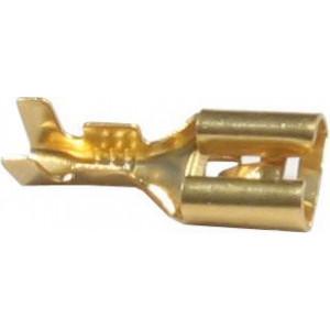 Faston-zdířka 6,3mm neizolovaná,kabel 1-2,5mm2