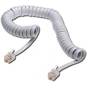 Telefonní kabel kroucený bílý 2m (4P4C) RJ10