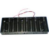 Držák baterie 10xR6/AA/UM3 s vývody