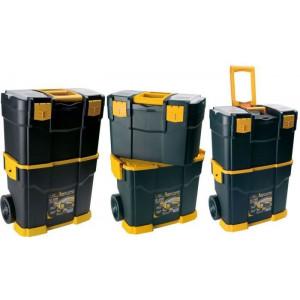 Kufr na nářadí plastový na kolečkách 460x285x665mm, ArtPlast 6700R