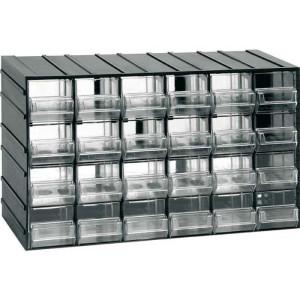 Závěsná skříňka stohovací 382x230x148mm - 24 krabiček, ArtPlast 611