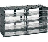 Závěsná skříňka stohovací 382x230x148mm - 8 krabiček, ArtPlast 614