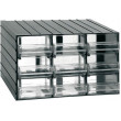 Závěsná skříňka stohovací 382x290x230mm - 9 krabiček, ArtPlast 701