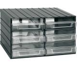 Závěsná skříňka stohovací 382x290x230mm - 6 krabiček, ArtPlast 702