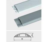 Přechodová lišta pro kabely šedá, š=20mm, v=6mm