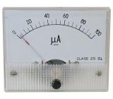 Analogový panelový ampérmetr 69C9 100uA DC