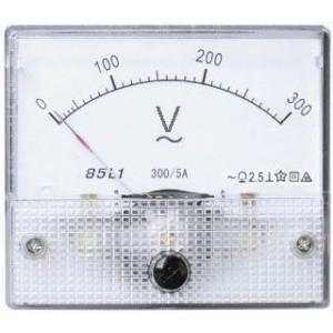 Analogový panelový voltmetr 69L9 300V~ AC