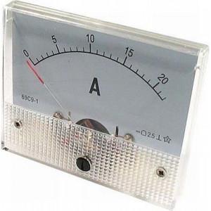 Analogový panelový ampérmetr 69L9 20A AC, včetně bočníku