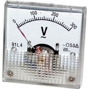 Analogový panelový voltmetr 91L4 300V~ AC