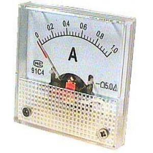 Analogový panelový ampérmetr 91C4 1A DC, s bočníkem