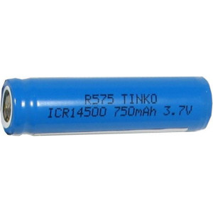 Nabíjecí článek Li-Ion ICR14500-AA 3,7V/750mAh TINKO