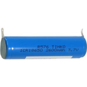 Nabíjecí článek Li-Ion ICR18650 3,7V/2600mAh TINKO, páskové vývody