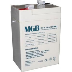 Pb akumulátor MGB VRLA AGM 6V/4Ah