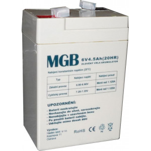 Pb akumulátor MGB VRLA AGM 6V/4,5Ah