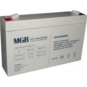 Pb akumulátor MGB VRLA AGM 6V/7Ah