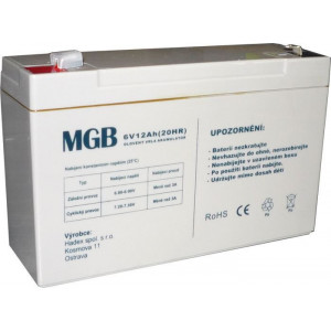 Pb akumulátor MGB VRLA AGM 6V/12Ah