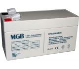 Pb akumulátor MGB VRLA AGM 12V/1,3Ah