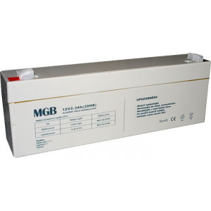 Pb akumulátor MGB VRLA AGM 12V/2,3Ah