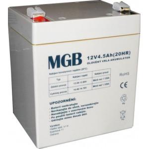 Pb akumulátor MGB VRLA AGM 12V/4,5Ah