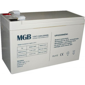 Pb akumulátor MGB VRLA AGM 12V/7,5Ah