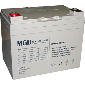 Pb akumulátor MGB VRLA AGM 12V/33Ah