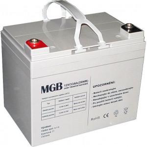 Pb akumulátor MGB VRLA AGM 12V/33Ah polotrakční