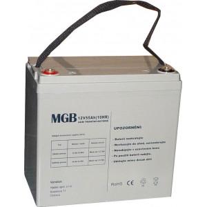 Pb akumulátor MGB VRLA AGM 12V/55Ah polotrakční