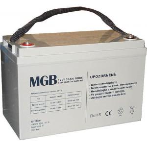 Pb akumulátor MGB VRLA AGM 12V/100Ah polotrakční