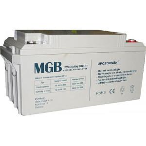 Pb akumulátor MGB VRLA AGM 12V/65Ah trakční