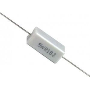 1R0 rezistor 5W drátový keramický, 5%, 300ppm, 500V