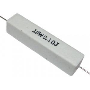 0,10R rezistor 10W drátový keramický, 5%, 500V