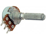 Potenciometr otočný kovový16mm 1k0/N oska 6/20mm drážkovaná