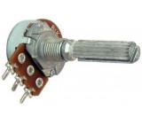 Potenciometr otočný kovový16mm 5k0/G oska 6/20mm drážkovaná