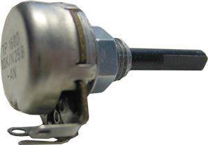 Potenciometr otočný kovový16mm 10k/E oska 4/25mm TP160 25b